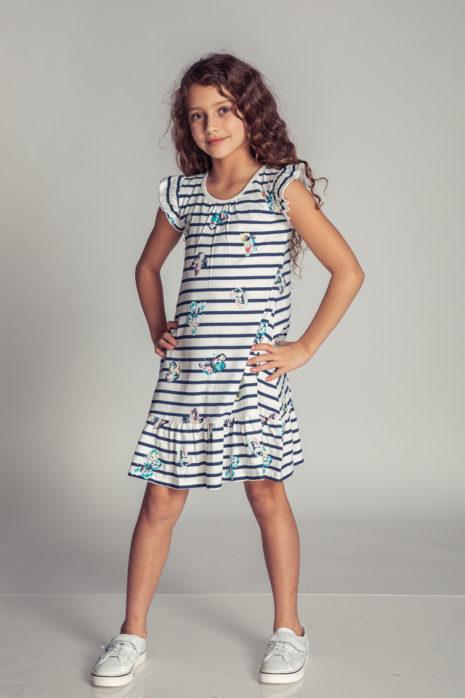 שמלה בד סרוג קצר בייסיק