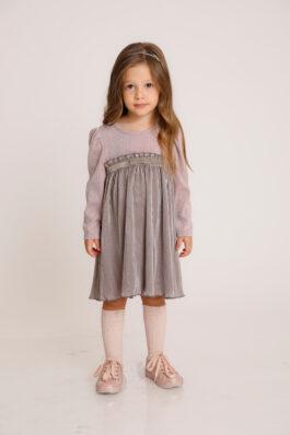 שמלת סאטן מידי